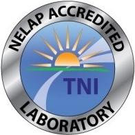 NELAP ACCREDITED LABORATORY seal
